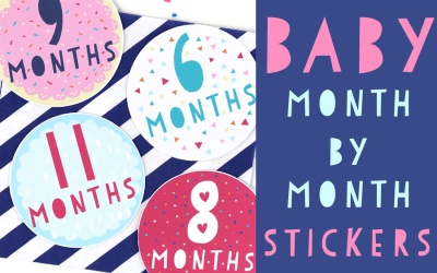 Super Sweet Month By Month Baby Stickers