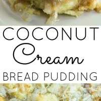 Coconut Cream Bread Pudding with Coconut Glaze