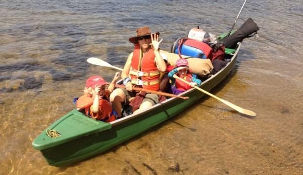 On the canoe ready to go