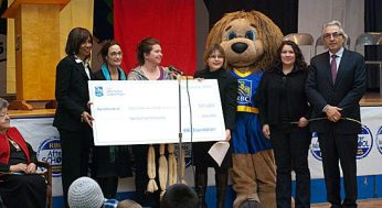 RBC presents a $25,000 donation to the Native Child and Family Services of Toronto