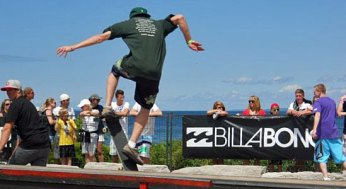 A skateboarders catches some air at Wakestock. The 13th edition of the festival took place at Millenium Park in Collingwood Harbour on Aug. 6, 7, and 8.