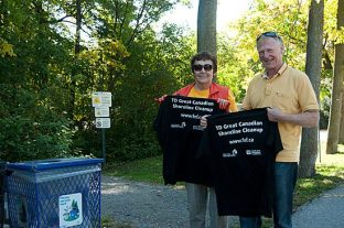 The most unusual piece of trash picked up at the Guildwood edition of the Great Canadian Shoreline Cleanup on Sept. 19 wins the volunteer who found it a t-shirt. Cleanup organizer Gisela Bach says a wedding dress was found at a similar event in Burlington last year.