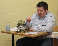 """""""Bingo is all ages,"""" senior library assistant Matthew Parish said. """"We had four and five-year olds and even seniors last year."""" Parish spent his Winterfest calling out the numbers during the game."""
