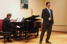 Vartan Gabrielian wows the audience with his bass-baritone. He song Britton's Bottom's Dream from Midsummer Night's Dream.