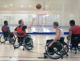 'I quit my job … to train for London,' says Canadian Paralympian Brandon Wagner, second from left.