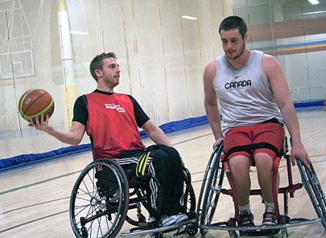 'Wheelchair basketball opened a lot of doors for me,' says Brandon Wagner, left, who will wear No. 13 for Canada at the 2012 Summer Paralympic Games in London.