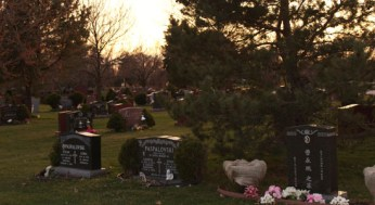 Cemeteries in the area can be quite wooded and dark. Some visitors are more cautious visiting in the evenings.