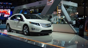 Also on display at this year's Autoshow was the Chevrolet Volt plug-in hybrid, General Motors' second try at an electric vehicle since the Saturn EV1.