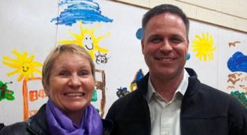 Patricia Mueller, executie director and Justin Ryan, property and shelter manager of the Homes First Society Shelter in Scarborough.