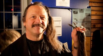 Partnered with Pantene's Beautiful Lengths program, Larry Kosowan will be donating his hair to the Canadian cancer society in order to make wigs for patients who have lost their hair due to medical treatments.
