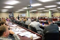 Some TTC workers were present at Thursday's public TTC meeting.