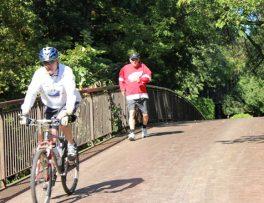 Bikes were a popular choice for the Terry Fox Run.