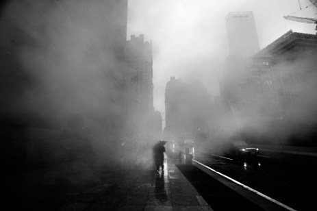 A photo taken by Skoczkowski in 2011 of Wall Street Area in New York City