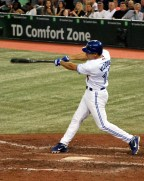 Omar Vizquel connects in the seventh inning for his 2,877 hit in his final at-bat of his career.