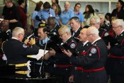 Toronto Police Men's Chorus sings at Remembrance Day event in Scarborough.