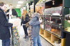 Karen holding Fluffy the snake.