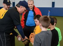 The Scarborough Stingers hosted a clinic for Rookie Ball aged players on April 14th, 2013.