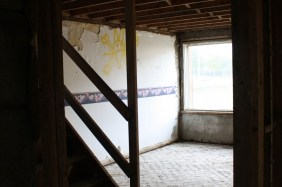 A room in one of the townhouse complexes that are currently being renovated.