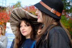 Artist De Anne Lamirande and her contributing artist and friend, Emma.