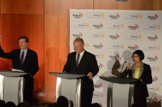 John Tory, Doug Ford and Olivia Chow