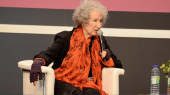 Margaret Atwood speaks with the audience as the first INSPIRE! Toronto International Book Fair.