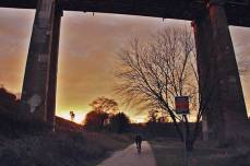 A photo by local photographer, Susan Drysdale, of the Don Trail.