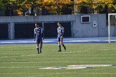 Toronto defenders Devon Bowyer, left, and David Colelli are left dejected after conceding two goals in a minute.