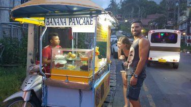 Banana Pancakes with Nutella in Phuket Thailand