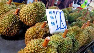 Durian at the Phuket Sunday Night Market Thailand