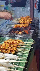 Chicken Skewers Phuket Sunday Night Market Thailand