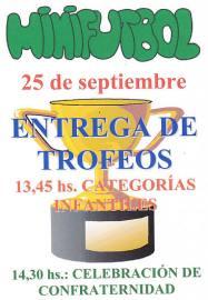 Entrega de Trofeos del Minifútbol de Torrelodones XXX Campeonato de Verano 2011