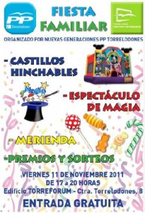 Fiesta Familiar de Nuevas Generaciones de Torrelodones en Torreforum