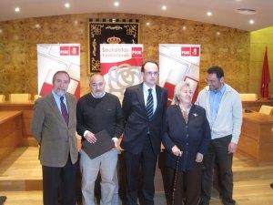 Juan Barranco, Ricardo Roquero, J.I. Díaz Bidart, Julia Ybarra y Carlos Pérez Paredes