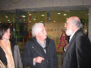 El artista plastico José Miguel Palacio y Agustín Martínez Tejeda