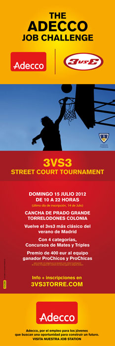 Baloncesto 3vs3 en Torrelodones - julio 2012