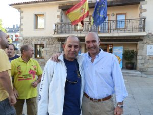 Julián de Castro (empresa de autocares J. de Castro)y Miguel Ángel Galán (Asociación Empresarial de Torrelodones)