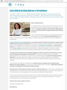 Carta abierta enviada por Elena Biurrun a los vecinos de Torrelodones
