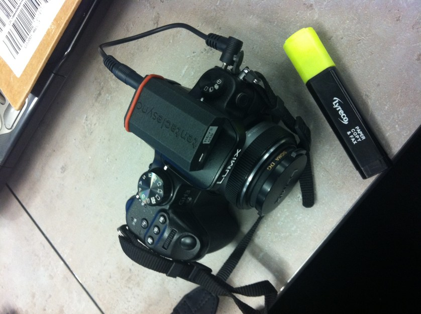 Tentacle Sync pluggest into Panasonic GH3