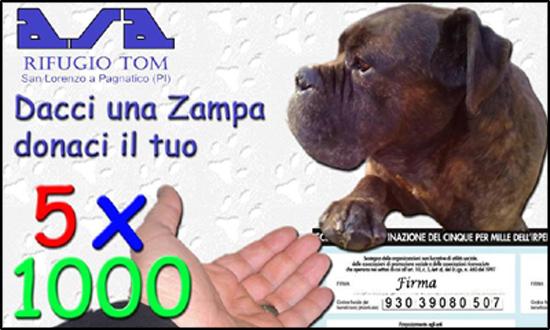 5per1000- Rifugio Tom