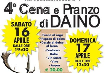 cena-e-pranzo-di-daino-pelago-aprile