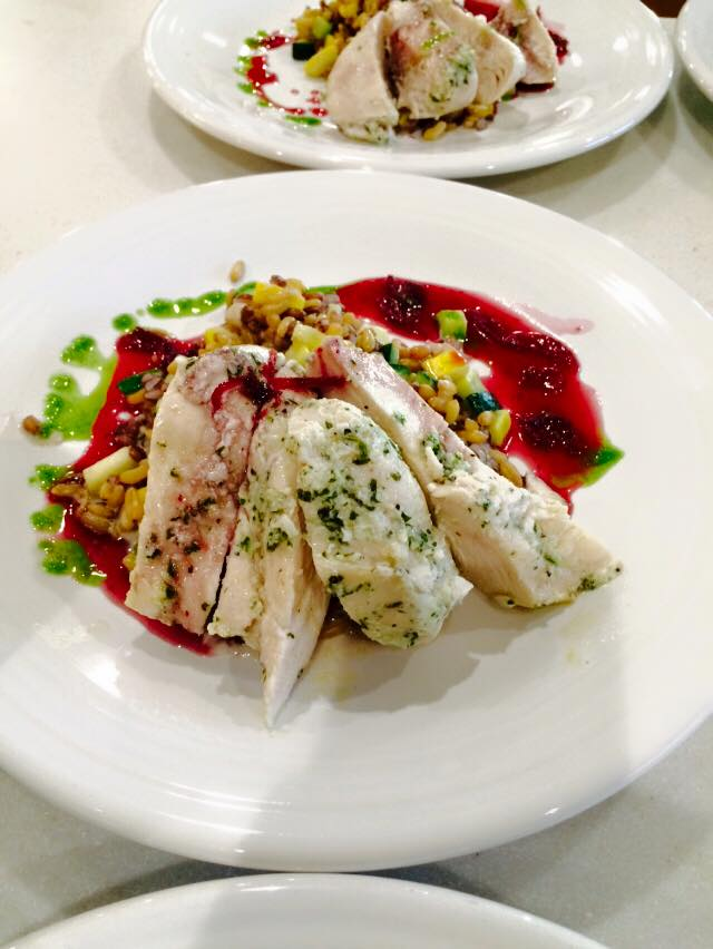 Sous-vide Chicken with Montana Kamut and Purple Barley