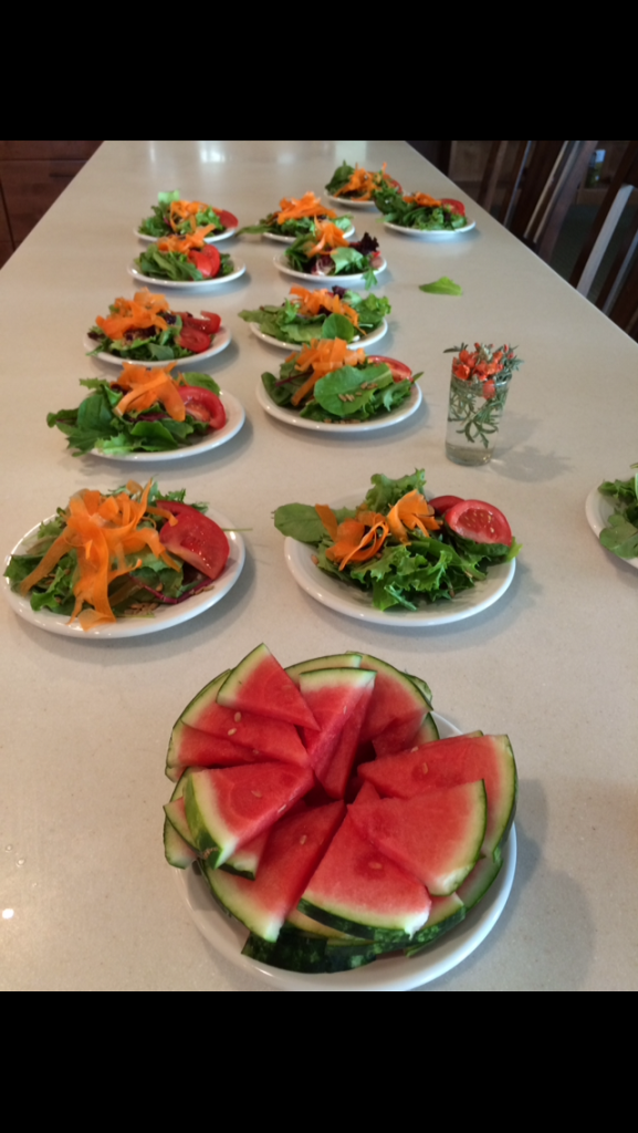 Organic Greens and Tasty Appetizers