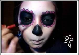 maquillaje de muerte catrina