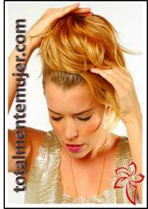 peinado elegante para cabello largo