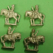 PS22a Cuirassier, pistol, walking, plumed helmet