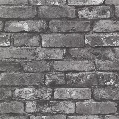 Brick Wallpaper | Faux and Textured Brick Stone Patterned Paper