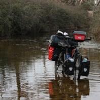 Fahrrad im Wasser