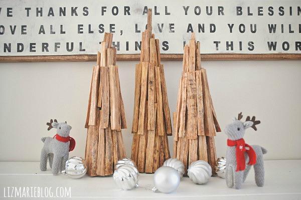 01 lizmarieblog.com diy rustic pine christmas tree dreveny stromcek