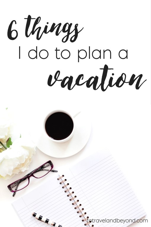planning a vacation