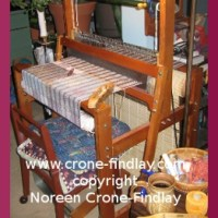 The story of my Saori loom and a new shirt for my husband